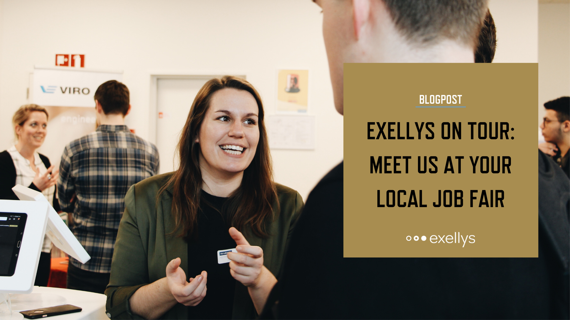 Exellys on tour – Meet us at your local job fair - LinkedIn share image