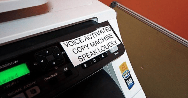 Voice activated copy machine