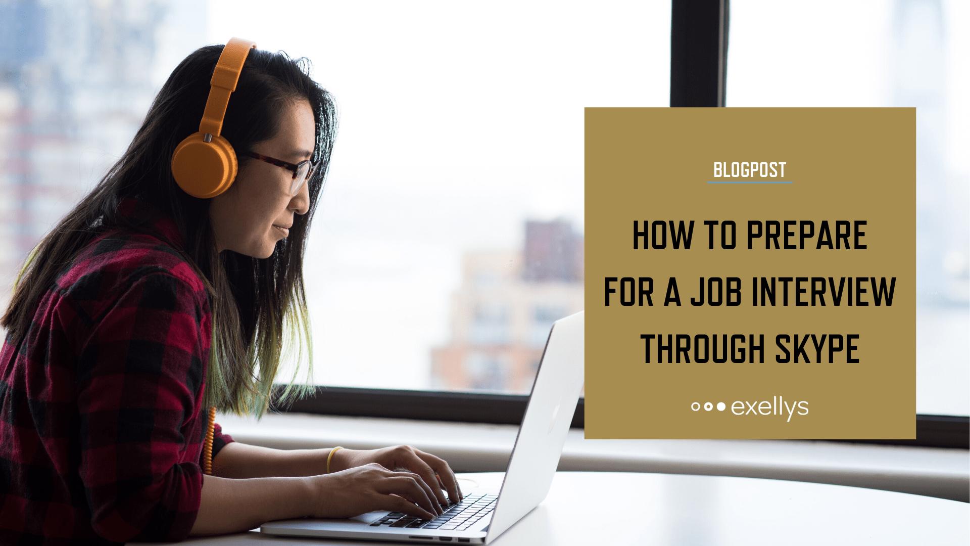 How to prepare for a job interview through Skype - Social share image