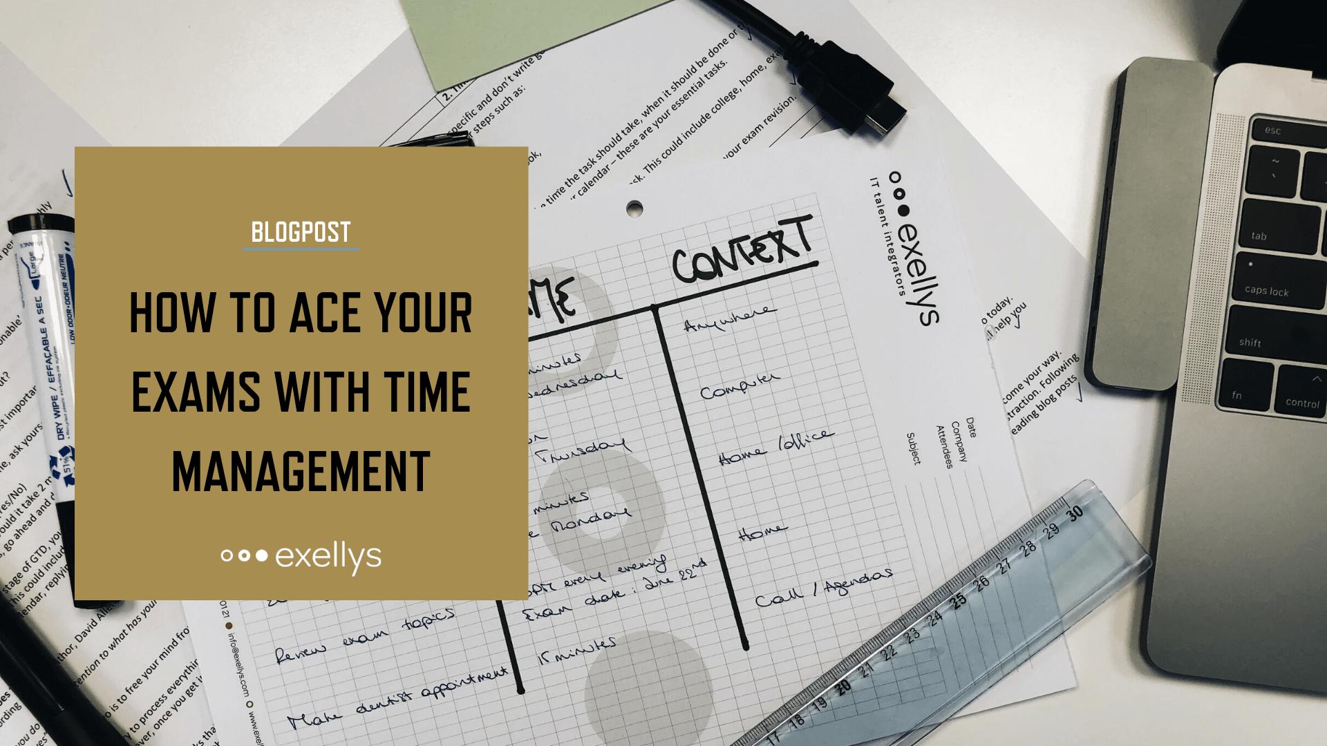 How to ace your exams with time management - Social share image